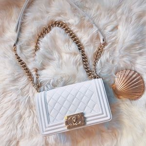 2018 Chanel LeBoy White Calfskin Small GHW
